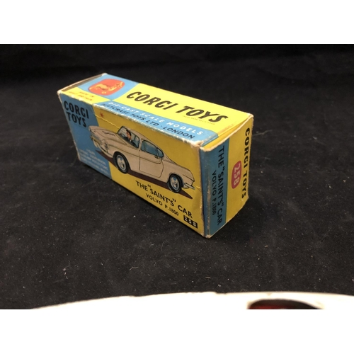 1010 - A VINTAGE 1960'S CORGI TOYS 258 THE 'SAINTS' CAR, VOLVO P.1800 (BOXED)...