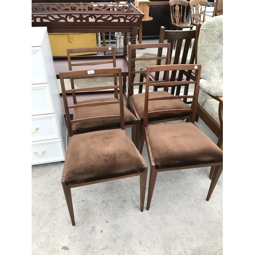 646 - FOUR RETRO TEAK DINING CHAIRS...