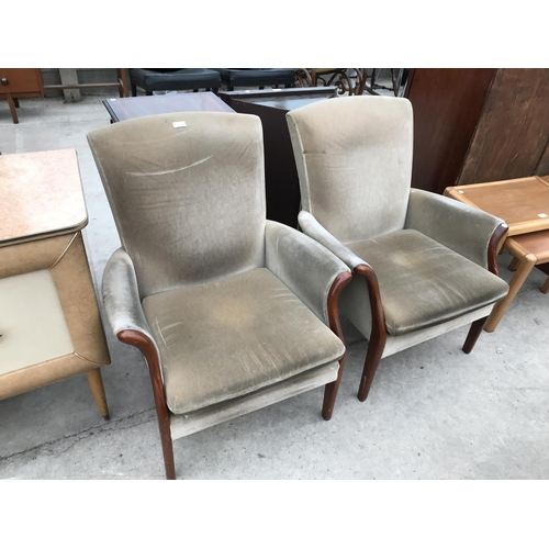 674 - TWO PARKER KNOLL ARMCHAIRS...