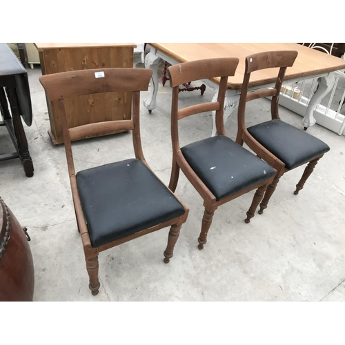 720 - THREE MAHOGANY DINING CHAIRS...