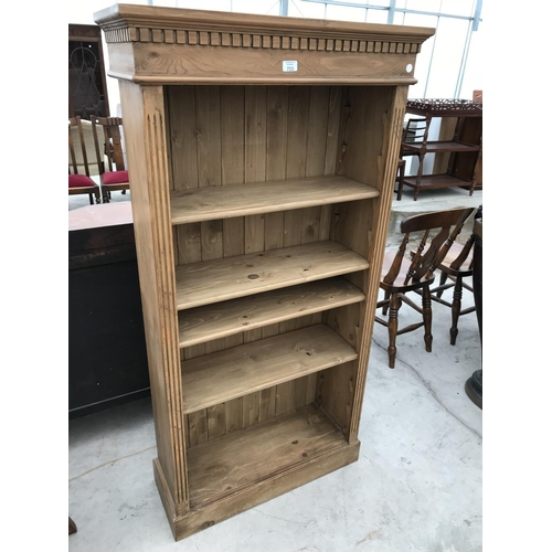 723 - A PINE FIVE TIER BOOKCASE...