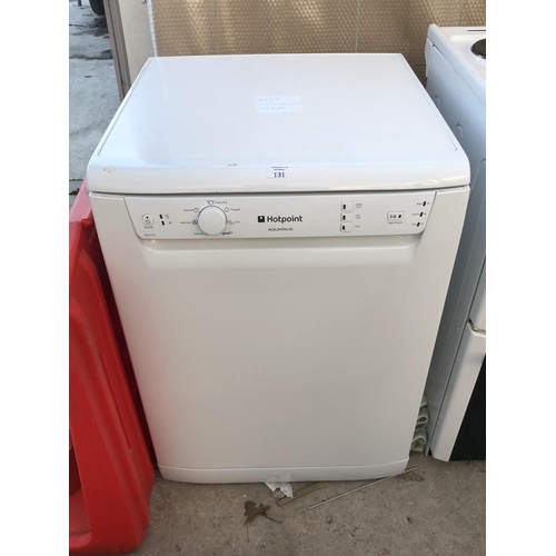 131 - A 'HOTPOINT AQUARIUS' FDL570 DISHWASHER, W/O...