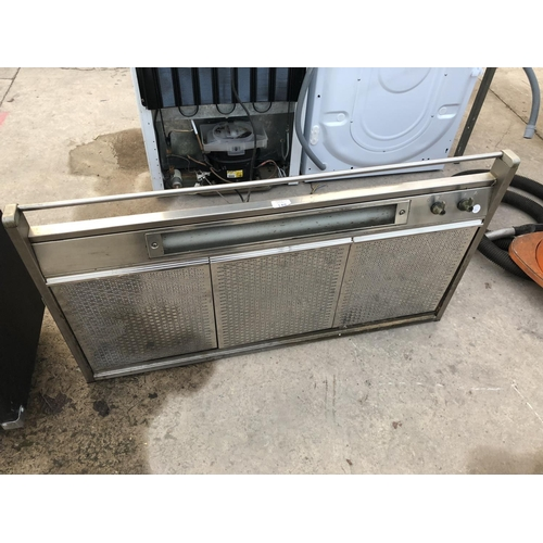 148 - A STAINLESS STEEL OVER HEAD OVEN EXTRACTOR...