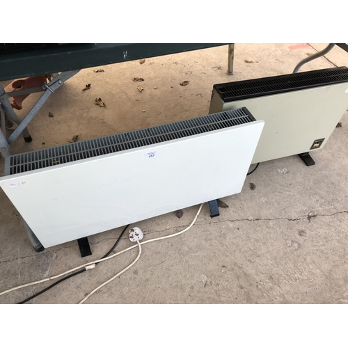 157 - TWO ROOM HEATERS TO INCLUDE A 'GLEN CLUB 2000' EXAMPLE BOTH W/O...