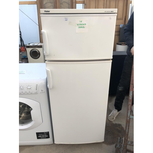 167 - A 'HAIER' HRF-250NR/B FRIDGE FREEZER W/O...