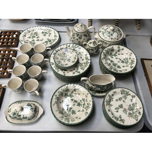 248 - A 53 PIECE 'RHS COUNTRY VINE' PATTERN DINNER SERVICE TO INCLUDE TUREENS, TEA POT, ETC...