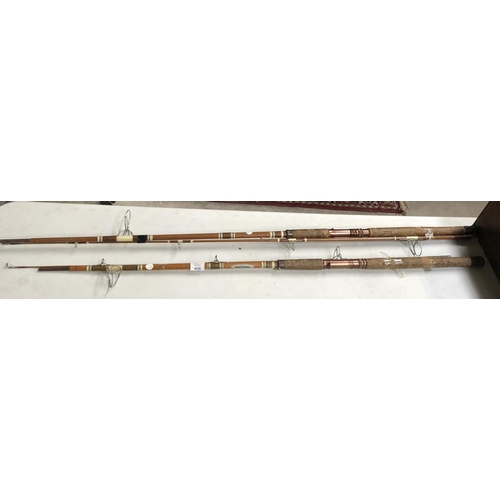 408 - TWO VINTAGE 'TSD-8 BERKLEY TRI SPORT' FISHING RODS WITH CORK HANDLES (2)...