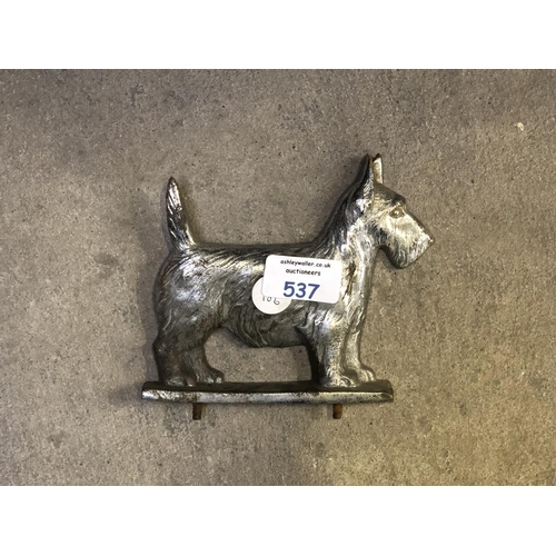 537 - A CHROME MODEL OF A WEST HIGHLAND TERRIER...