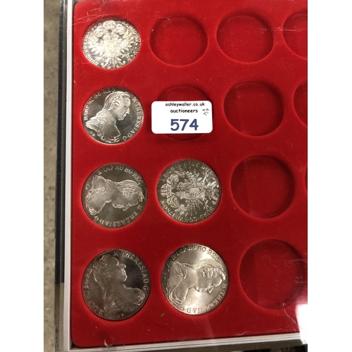 """561 - SIX """" MARIA THERESA THALERS """" , EACH PRISTINE CONDITION . FIVE ARE PROOFS AND ONE IS AN ORDINARY STR..."""