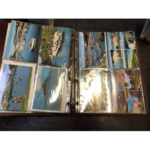 569 - TWO POST CARD ALBUMS CONTAINING SEA LANDSCAPE SCENES ETC...
