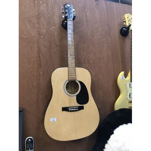 334 - A FENDER 'SQUIRE' ACOUSTIC GUITAR...