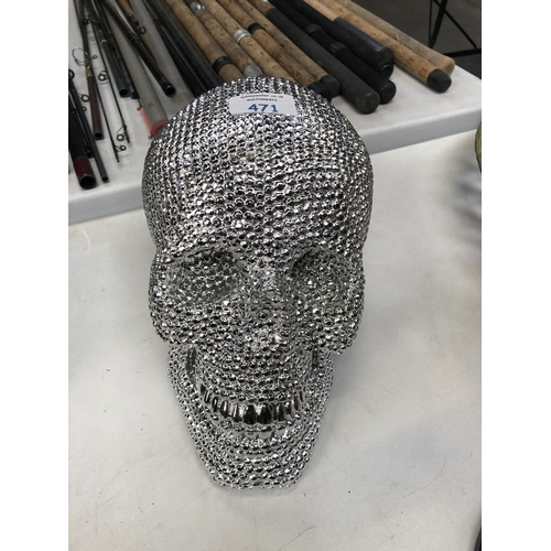 471 - A DISCO BALL STYLE MODEL OF A SKULL...