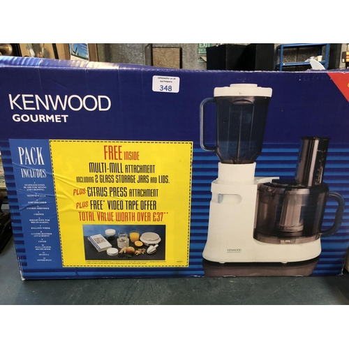 348 - AN (AS NEW) BOXED KENWOOD 'GOURMET' KITCHEN APPLIANCE...