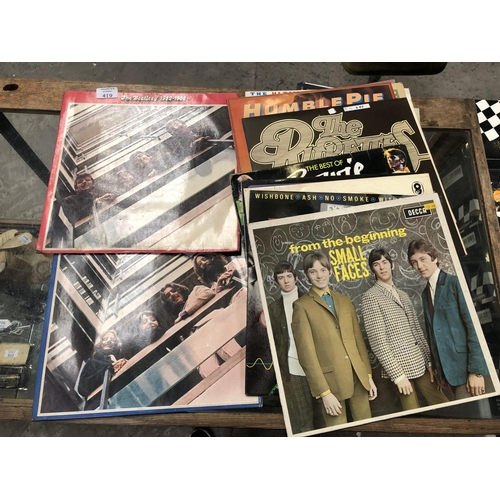 419 - A MIXED GROUP OF ASSORTED LP RECORDS TO INCLUDE 'THE BEATLES' 1962-1966 & 1967-1970, DAVID BOWIE ETC...