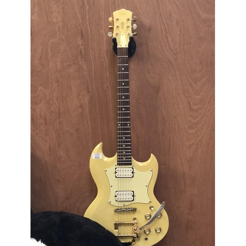 422 - A 'GOULD' ELECTRIC GUITAR IN CREAM COLOURWAY...