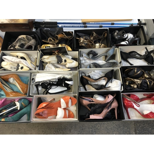 449 - A GROUP OF SIXEEN PAIRS OF LADIES BOXED DESIGNER SHOES / HEELS TO INCLUDE EXAMPLES BY 'STRUTT COUTUR...