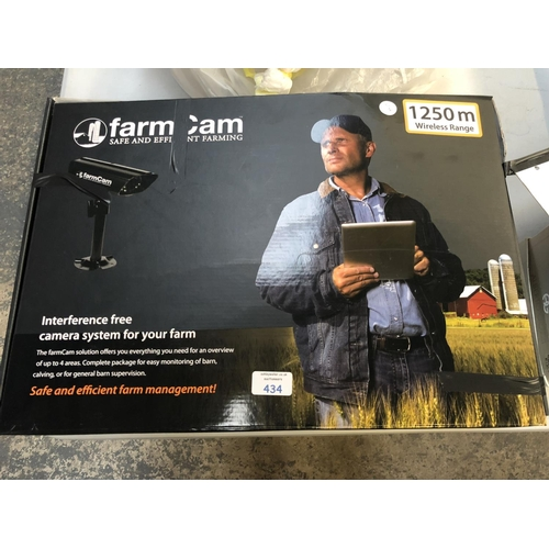 434 - A BOXED (AS NEW & WORKING) 'FARM CAM' FARM SECURITY SYSTEM WITH 1250M WIRELESS RANGE COMPLETE WITH A...