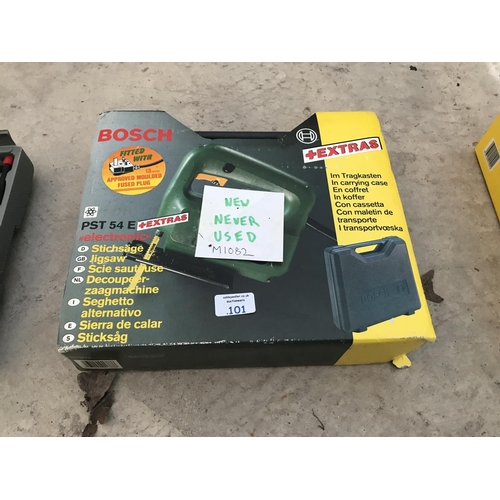 101 - A BOSCH PST54E ELECTRIC JIGSAW AS NEW IN BOX W/O...