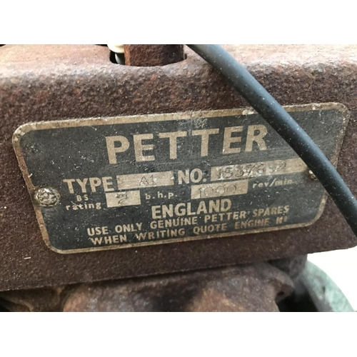 109 - A VINTAGE PETTER A1 PETROL STATIONARY ENGINE...