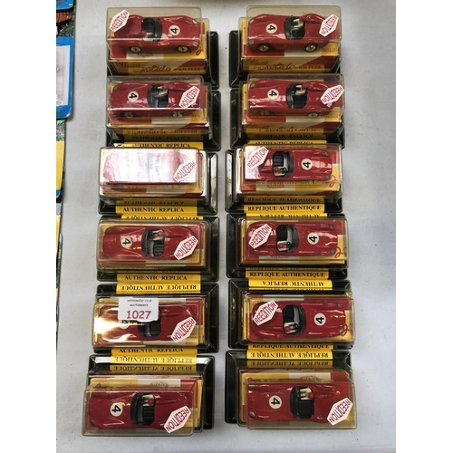 1027 - A GROUP OF 12 BOXED FRENCH 'SOLIDO FERRARI' RACING CAR MODELS (12)...