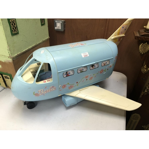 1037 - A 'BARBIE MODEL OF AN AEROPLANE IN BABY BLUE COLORWAY...