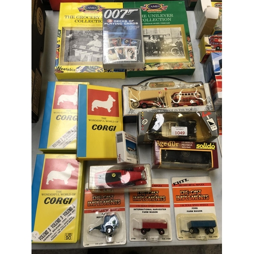 1049 - A MIXED COLLECTION OF  14 VARIOUS BOXED VEHICLES TO INCLUDE 'ERTL' EXAMPLES, 'CORGI', 'THE WONDERFUL...