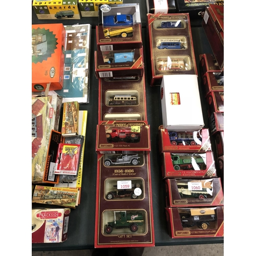 1059 - 8 VARIOUS BOXED 'MATCHBOX' MODELS OF YESTERYEAR ITEMS TO INCLUDE 1956-1986 SET, 'ACORN STORAGE' COMP...