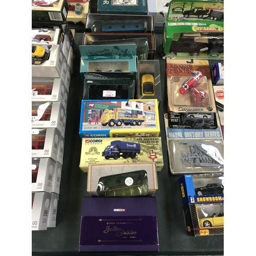 1067 - A MIXED COLLECTION OF 9 VARIOUS BOXED ITEMS TO INCLUDE 'CORGI' CLASSICS BREWERY COLLECTION VEHICLE, ...