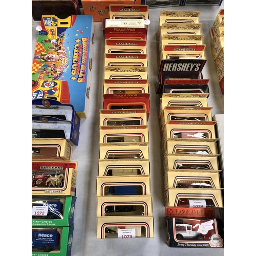 1073 - 15 VARIOUS BOXED VEHICLES TO INCLUDE 'LLEDO DAYS GONE BY' ROYAL MAIL LIMITED EDITION COLLECTORS SERI...
