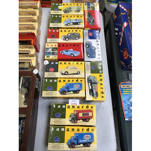 1076 - 11 VARIOUS BOXED LIMITED EDITION 'VANGUARDS' VARIOUS SCALE MODELS TO INCLUDE MILK TRUCK, ETC (11)...