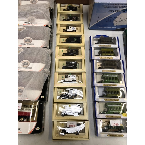 1084 - 10 BOXED 'LLEDO' DIE CAST CAR MODELS TO INCLUDE POLICE CARS, ETC (10)...