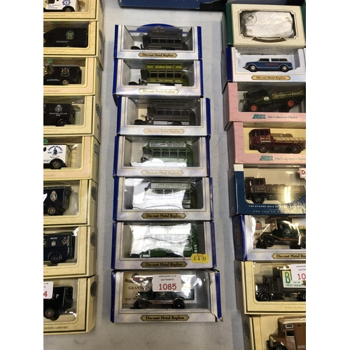 1085 - 7 BOXED 'OXFORD' DIE CAST REPLICA MODELS TO INCLUDE OPEN TOP BUSES, ETC (7)...