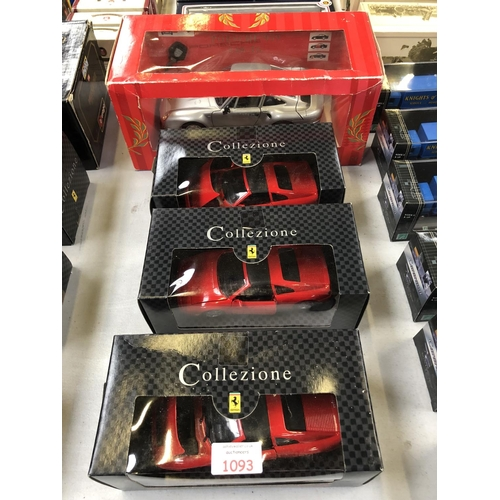 1093 - A 'TONKA POLISTIL' BOXED 'PORSCHE' CAR TOGETHER WITH FURTHER THREE BOXED 'FERRARI' 348 TS MODELS (4)...