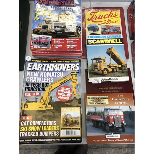 1102 - 27 CLASSIC AND VINTAGE COMMERCIAL 'RALLY' MAGAZINES TOGETHER WITH 28 FURTHER 'EARTHMOVERS' MAGAZINES...
