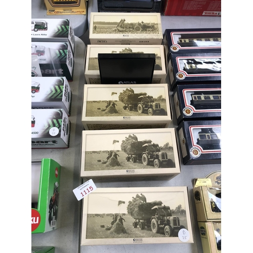 1115 - FIVE BOXED 'ATLAS' TRACTOR MODELS AND CERTIFICATES, MINT CONDITION (5)...