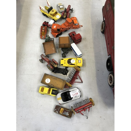 1129 - A GROUP OF VINTAGE DIE-CAST METAL VEHICLES (QTY)...