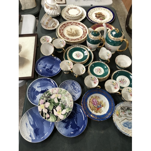 283 - A LARGE MIXED COLLECTION OF VARIOUS CERAMICS AND GLASS ITEMS TO INCLUDE A 'SUTHERLAND' BONE CHINA TE...