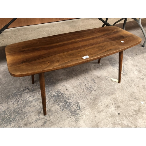287 - A RETRO STYLE LIGHT MAHOGANY SIDE TABLE...