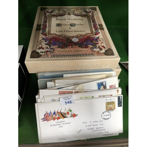 548 - THREE 'THE ROYAL WEDDING OF PRINCE CHARLES AND LADY DIANA SPENCER, STANLEY GIBBONS' IN BINDERS TOGET...