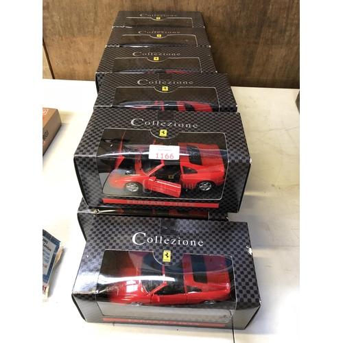 1166 - ELEVEN BOXED 'COLLEZIONE' FERRARI 348 TS BOXED SCALE CAR MODELS (11)...