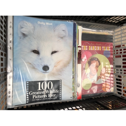 498 - CRATE FULL OF MAGAZINES : 100 GREATEST WILDLIFE PICTURES EVER , PEOPLES OF ALL NATIONS AND FILM REVI...
