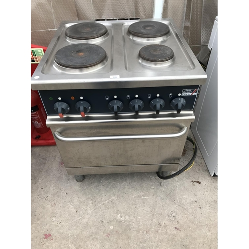 101 - A SCOTT BENHAM 3 PHASE STAINLESS STEEL ELECTRIC COOKER (COST £1500 NEW) W/O...