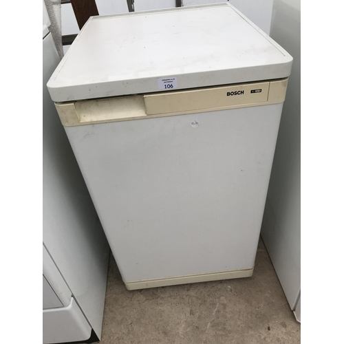 106 - A BOSCH UNDER COUNTER FREEZER W/O...