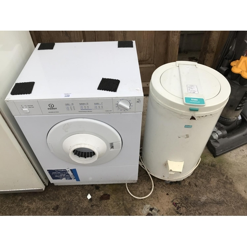 109 - TWO COUNTER TOP DRYERS - AND INDESIT 3 KILO AND A CREDA DEBONAIR BOTH W/O...