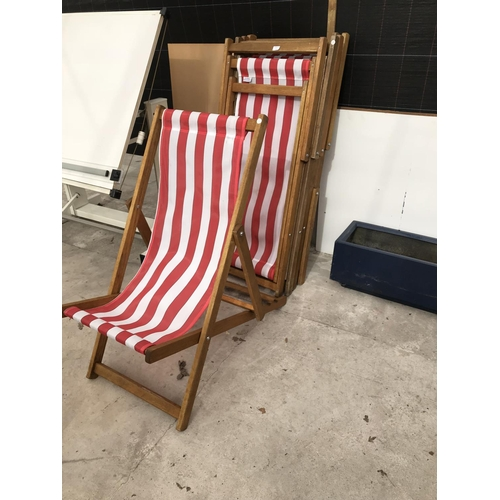 11 - FIVE DECK CHAIRS...