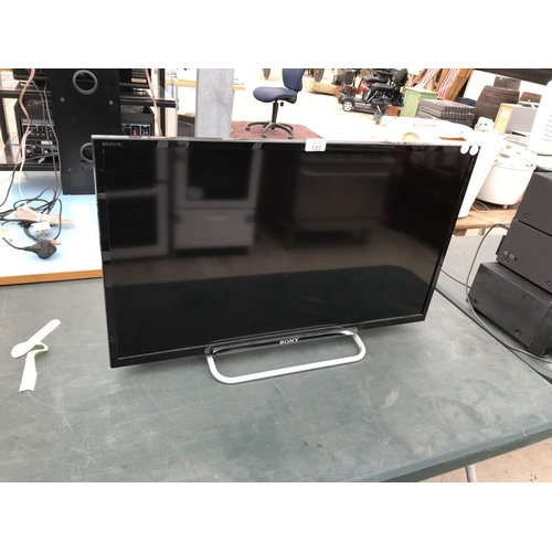 122 - A SONY FLAT SCREEN TV W/O...