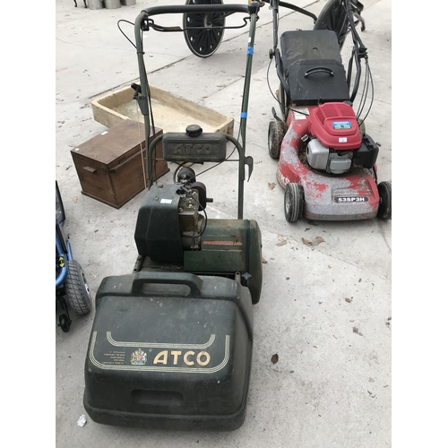 21 - AN ATCO COMMODORE B14 038436/H PETROL MOWER W/O AND RECENTLY SERVICED...