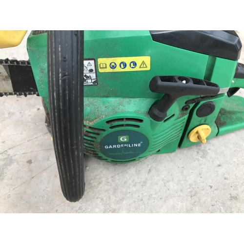 29 - A GARDENLINE OREGON SPEED CUT PETROL CHAINSAW W/O...