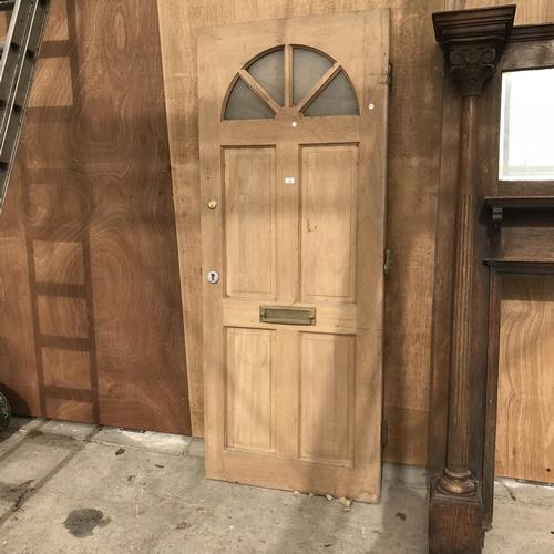 47 - A HARDWOOD EXTERIOR DOOR...