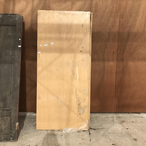 50 - THREE WOODEN FIRE DOORS 6'6